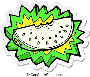 Slice of fresh melon Royalty Free Vector Image