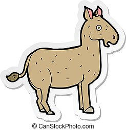 sticker of a cartoon mule
