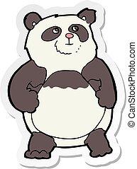 sticker of a cartoon panda