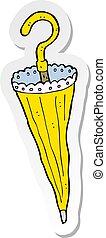 sticker of a cartoon parasol