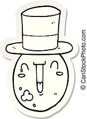 sticker of a cartoon posh egg