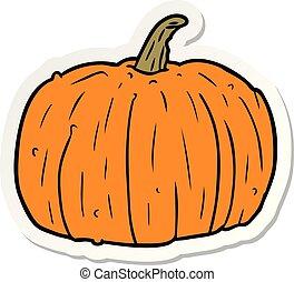 sticker of a cartoon pumpkin