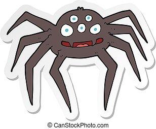 sticker of a cartoon spider