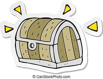 sticker of a cartoon treasure chest