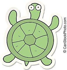 sticker of a cartoon turtle