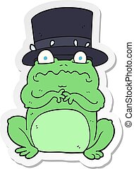 sticker of a cartoon wealthy toad