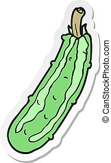 sticker of a cartoon zucchini