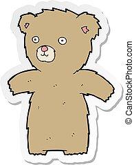 sticker of a cute cartoon teddy bear