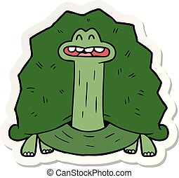 sticker of a funny cartoon turtle