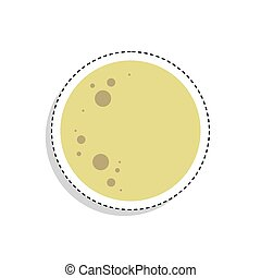 Sticker of a moon icon