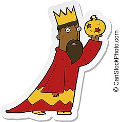 sticker of a one of the three wise men