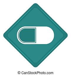 Sticker of a pill icon