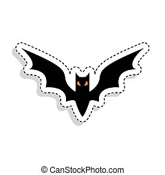 Sticker of a scary bat icon