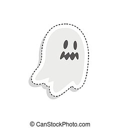 Sticker of a scary ghost icon