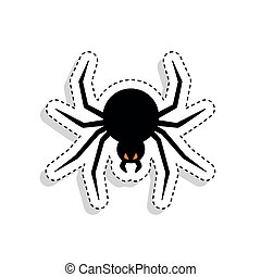 Sticker of a scary spider icon