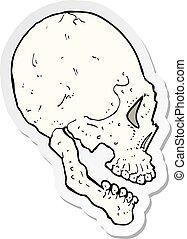 sticker of a skull illustration