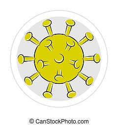 Sticker of a virus icon