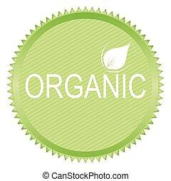 sticker of organic