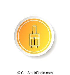 sticker of travel bag icon illustration