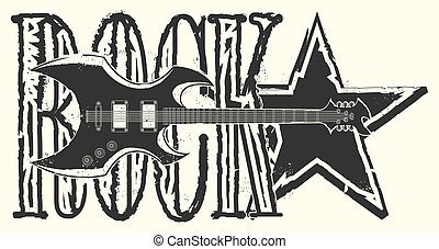 Sticker on the shirt Rock Star
