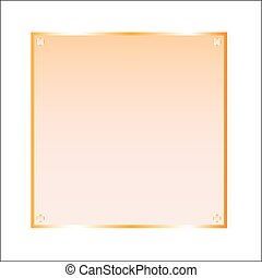 Sticker orange glass vector isolated object