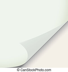 sticker, papier, krom, illustratie, hoek