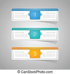 sticker, papier, set, kleurrijke, etiket