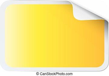 sticker, plein, witte , gele