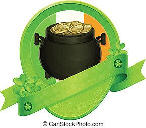 Sticker Pot of Gold Saint Patrick's Day