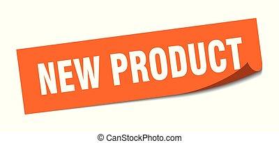 sticker., product, plein, teken., vrijstaand, nieuw