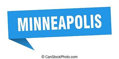 sticker., puntatore, blu, signpost, minneapolis, segno
