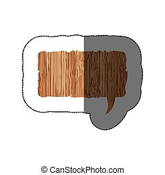 sticker realistc wooden texture rectangle dialog box