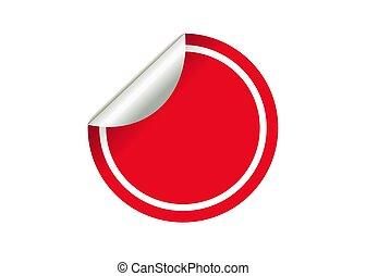 sticker red