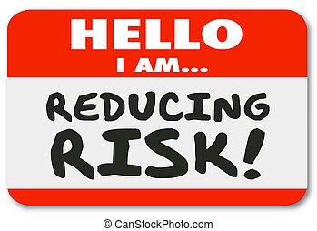 sticker, reductie, verantwoordelijkheid, beperkend, gevaar, ...