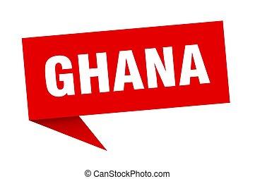sticker., rojo, indicador, señal, poste indicador, ghana