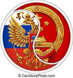 Sticker Russia and China.
