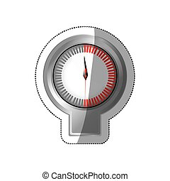 sticker screen stopwatch timer counter icon