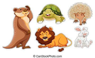 Sticker set of many wildlife