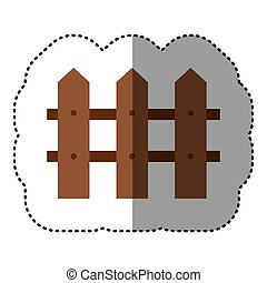 sticker shading colorful picture wooden fence design