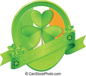 Sticker Shamrock St Patrick's Day