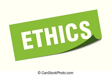 sticker., signe., isolé, éthique, carrée
