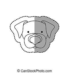 sticker silhouette close up beagle dog animal