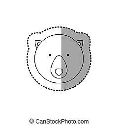 sticker silhouette close up bear animal