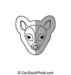 sticker silhouette close up deer animal