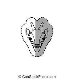 sticker silhouette close up giraffe animal