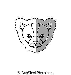 sticker silhouette close up kitty animal