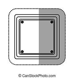sticker silhouette square shape traffic sign icon