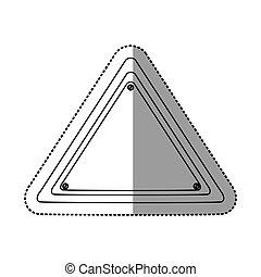 sticker silhouette triangle warning traffic sign
