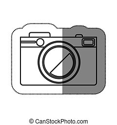 sticker silhouette with photographic camera