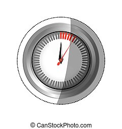 sticker silver screen chronometer timer counter